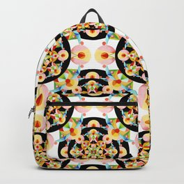 Pastel Carousel Black Dot Pattern Backpack