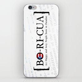 BO-RI-CUA iPhone Skin