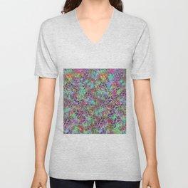 Grunge Art Floral Abstract G124 Unisex V-Neck