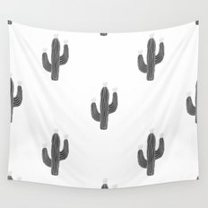 Cactus bloom - bw Wall Tapestry