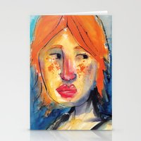 redhead Stationery Cards featuring Redhead by Danilo Gonçalves