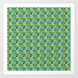 Plantain Paradise Pattern - For true plantain fans Art Print