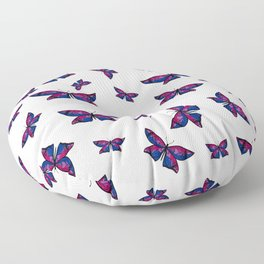 Fly With Pride: Bisexual Flag Butterfly Floor Pillow