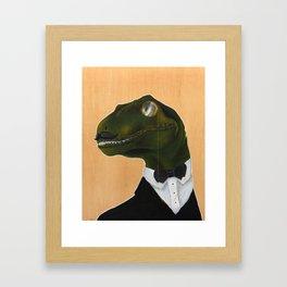 Dapper Velociraptor Framed Art Print
