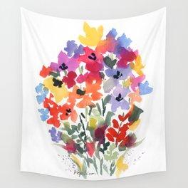 Bright Wildflower Field Wall Tapestry