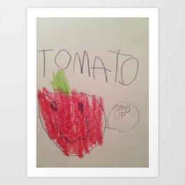 Tomato Says Art Print