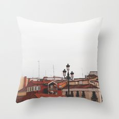 Calle Mayor Throw Pillow