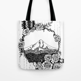 Rose City (B/W) Tote Bag