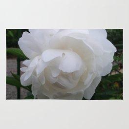 Pure White Peony Rug