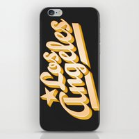 los angeles iPhone & iPod Skins featuring Los Angeles by GetSolidGold