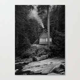 Cabin Smoke Canvas Print