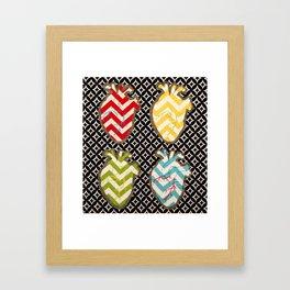Four of Hearts Framed Art Print