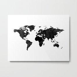 Watercolor world map Metal Print