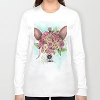 yorkie Long Sleeve T-shirts featuring Yorkie by Carmen McCormick