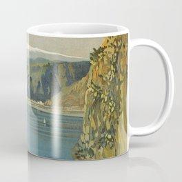 Vintage Taormina Sicily Italian travel ad Coffee Mug