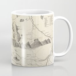 Vintage Map of The White Mountains (1852) Coffee Mug