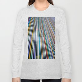 Colored Lines On The Wall Long Sleeve T-shirt