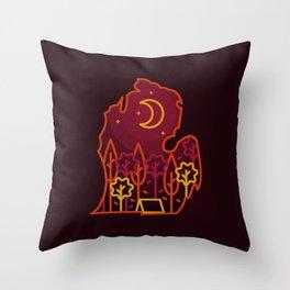 Michigan Camping - Autumn Throw Pillow
