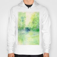 central park Hoodies featuring Summertime in Central Park by SuisaiGenki
