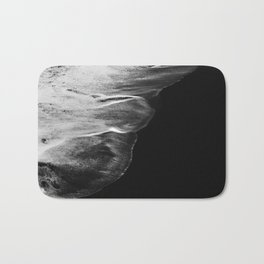 Black Sand White Wave Bath Mat