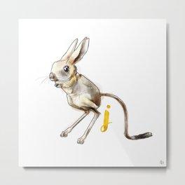 Alphabetical Animals – J for Jerboa Metal Print