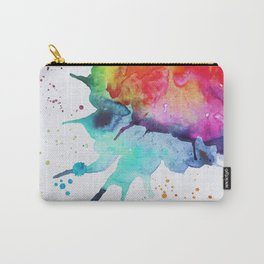 Rainbow Chakra Watercolor Splash Carry-All Pouch