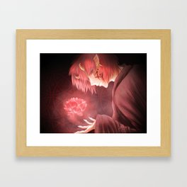 Red Lotus. Framed Art Print