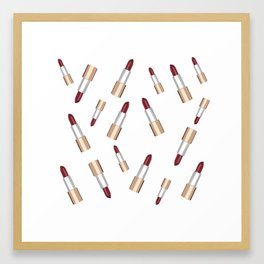 Lip Love Framed Art Print