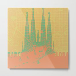 Holly Family Barcelona Metal Print