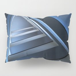 Triangle staircase in blue tones Pillow Sham