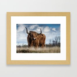 Bull Landscpe nature Framed Art Print