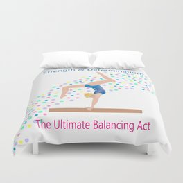Gymnastics - Ultimate Balancing Act (on Balance Beam) Duvet Cover