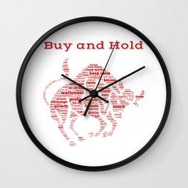 Bull Market Buy And Hold Dividend Shareholder Blockchain Gift Wall Clock