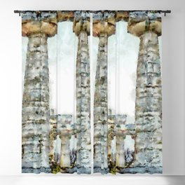 Paestum: two columns of the temple Blackout Curtain
