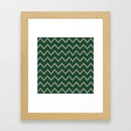 Potterverse Chevrons - Slytherin Green Framed Art Print