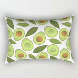 Avocado and Avocado Leaves pattern illustration Rectangular Pillow
