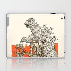 Godzilla vs. the Brooklyn Bridge Laptop & iPad Skin