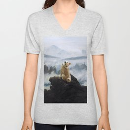 The Wanderer Above the Sea of Doge Unisex V-Neck