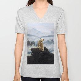 The Wanderer Above the Sea of Doge Unisex V-Neck