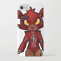 fnaf iPhone & iPod Cases featuring FNAF Foxy by Draikinator