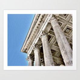 Roman Temple Corinthian Columns Nimes Provence France Art Print