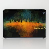kansas city iPad Cases featuring Kansas City Skyline UHq v4 by HQPhoto