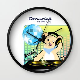 Omurice the little puppy - DJing Wall Clock