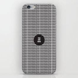 Consumerism iPhone Skin