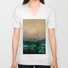 Night Sky Flowers Unisex V-Neck