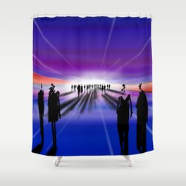 Ciphers Shower Curtain
