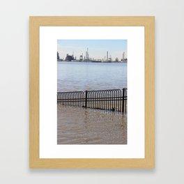 City Spillway Framed Art Print
