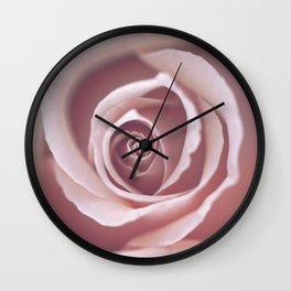 Pink Pastel Rose Wall Clock