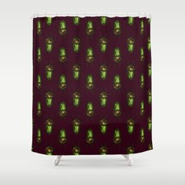 Rainbow Stag Beetles Shower Curtain