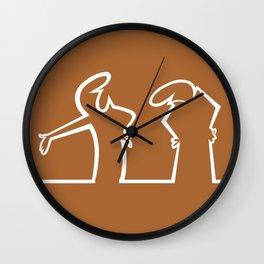 La Linea Wall Clock